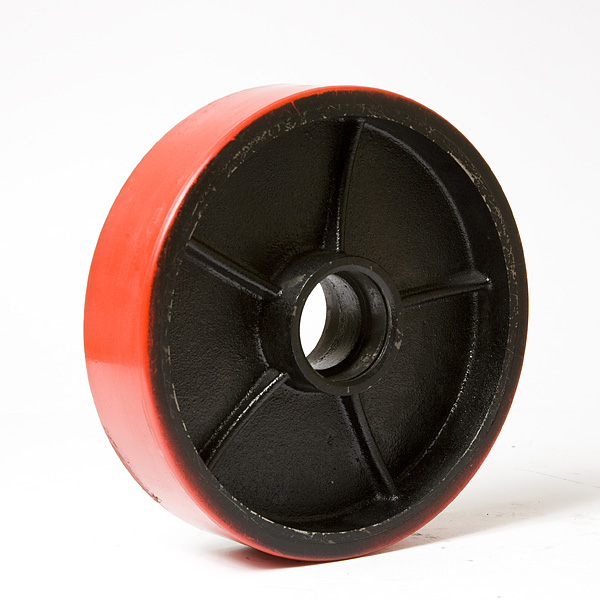 Колесо металл полиуретан 160х50
